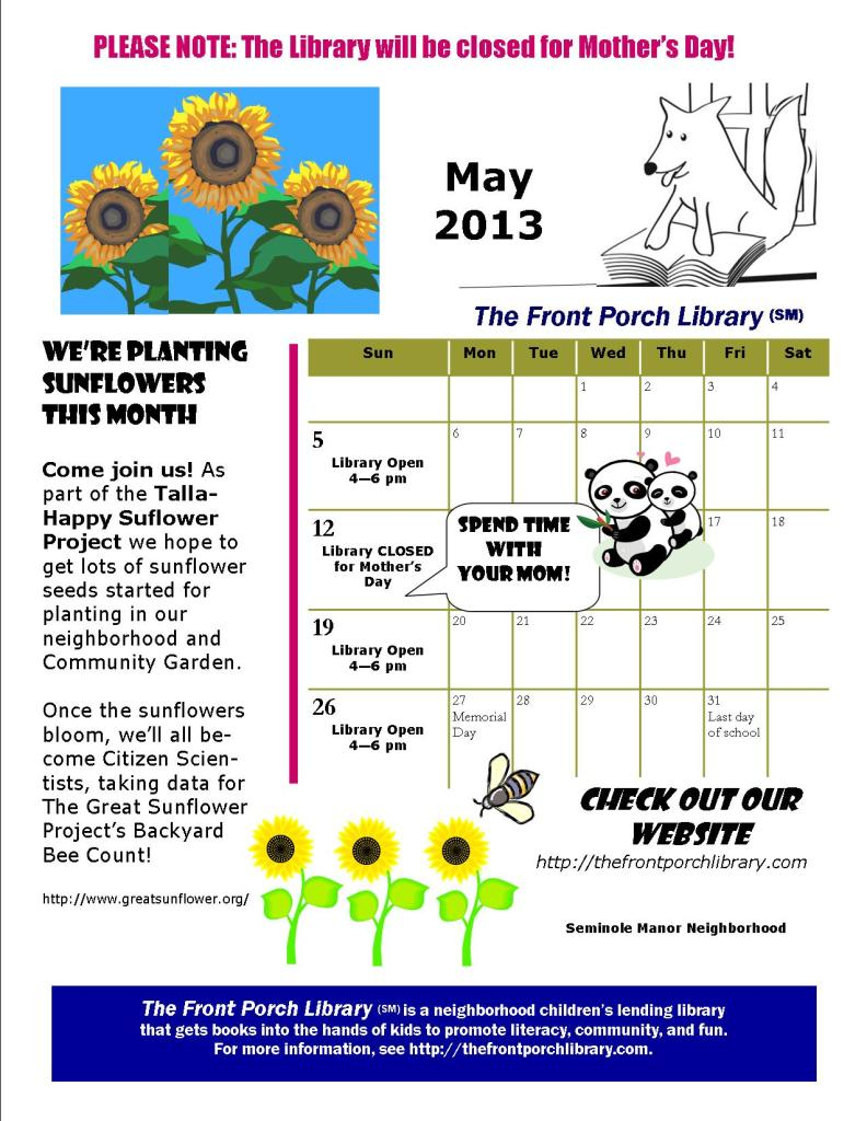 FPL 2013 calendar May