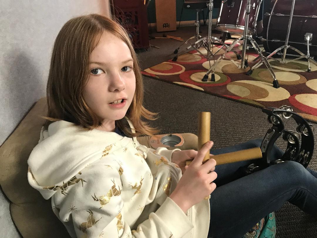 Vivienne with sticks